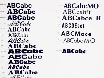 font signwriting