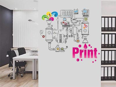 office wall graphics print and cut